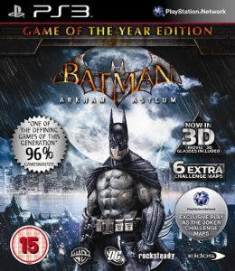 Jogo PS3 Usado Batman Arkham Asylum Game of the Year