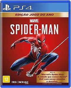 Jogo PS4 Novo Marvel's Spider-Man Edição Jogo do Ano