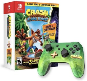 Jogo Switch Usado Crash Bandicoot: N. Sane Trilogy & Controller Bundle