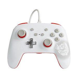 Controle Switch Novo PowerA  Mario White