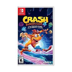 Jogo Switch Novo Crash Bandicoot 4: It's About Time