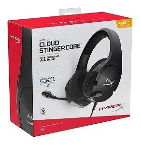 Headset Novo HyperX Cloud Stinger Core 7.1 Com Fio