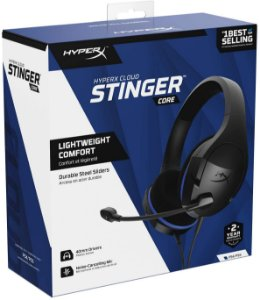 Headset Novo HyperX Cloud Stinger Core PS4/PS5 Com Fio