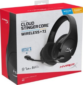 Headset Novo HyperX Cloud Stinger Core 7.1 PC Sem Fio