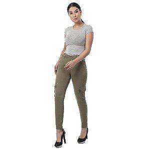 Calça Jeans Cigarrete Cargo - 261845 - Sawary
