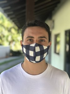Máscara Tecido Duplo - Xadrez