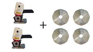 Kit 2 Máquinas De 4'' + 4 Discos