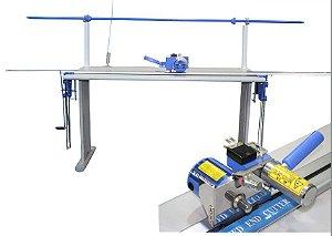 Máquina de Cortar Fim de Enfesto c/ Trilho 3 metros