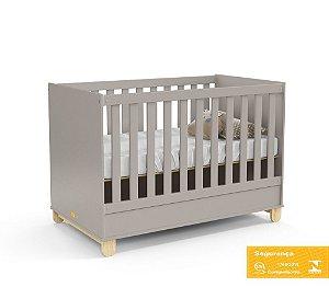 Berço de Bebê Zupy Cinza Natural Matic