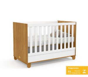Berço de Bebê Zupy Branco Soft Freijó Matic