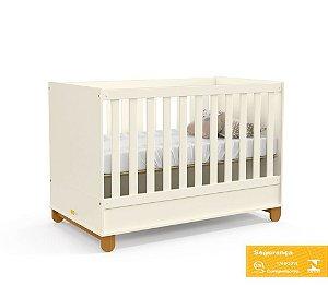 Berço de Bebê Zupy Off White Eco Wood Matic