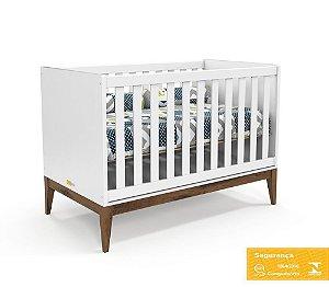 Berço de Bebê Nature Branco Soft Eco Wood Matic