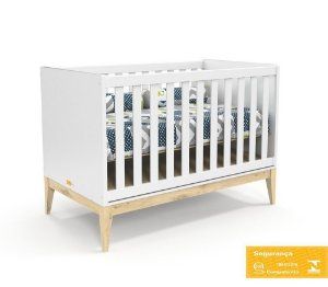 Berço de Bebê Nature Branco Soft Natural Matic