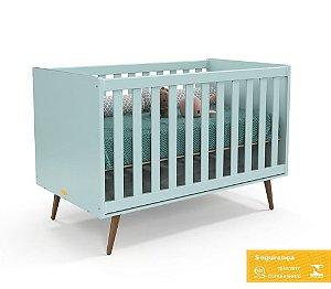 Berço de Bebê Retrô Menta Eco Wood Matic