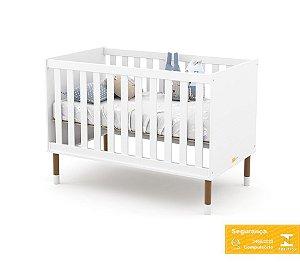 Berço de Bebê Up Branco Soft Eco Wood Matic