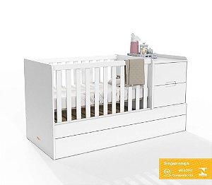 Berço de Bebê Formare Branco Soft Matic