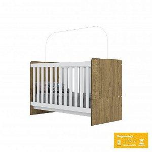 Berço de Bebê Labirinto Rústico e Branco Henn