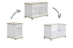 Berço de Bebê Fin 3 em 1 Madeira Somniare