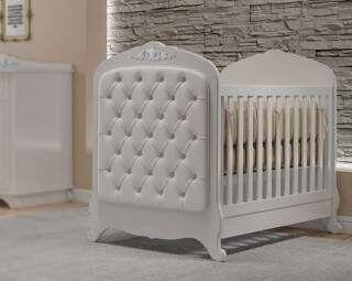 Berço de Bebê Cherry Branco Puppi Mobile