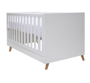 Berço de Bebê Kim Branco Pés Mel Puppi Mobile