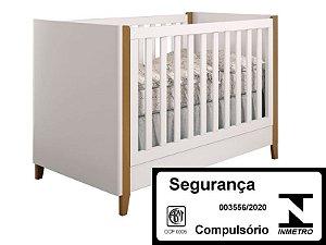 Berço de Bebê Capri Branco Puppi Mobile