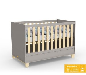 Berço de Bebê Rope Cinza Natural Matic