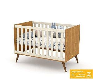 Berço de Bebê Gold Freijó Off White Eco Wood Matic