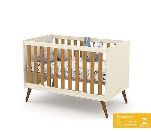 Berço de Bebê Gold Off White Eco Wood Matic