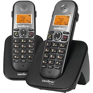 Telefone Sem Fio Digital Com Dois Ramais Adicionais TS 5123 Intelbras