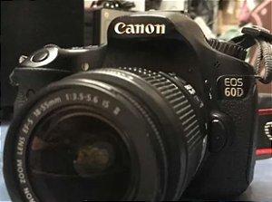 Canon 60d + 18-135mm + 2 Baterias + Carregador + Cartão 16gb (USADA)