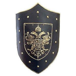escudo medieval de parede em fibra