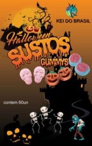 GUMMYS HALOWEEN DISPLAY COM 50UN