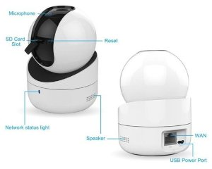 Camera IP WiFi Hik-Home Q1 Lente 2.8mm - DS-2CV2Q01EFD-IW
