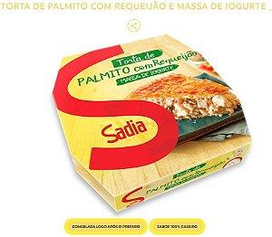 TORTA DE PALMITO COM REQUEIJÃO E MASSA DE IOGURTE 500GR