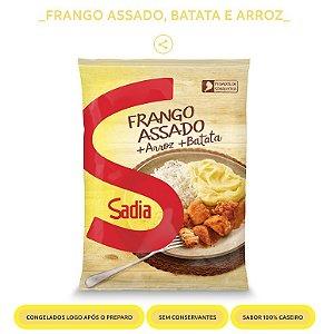 CARNE FRANGO ASSADA PURE BATATA E ARROZ 350GR