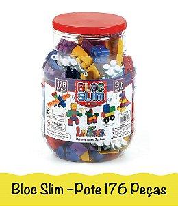 Blocos De Montar Brinquedo Infantil Encaixe Com Lego 176 Peças