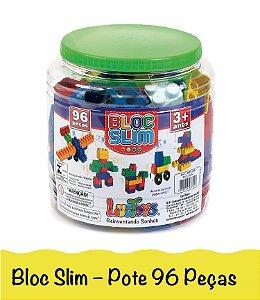 Blocos De Montar Brinquedo Infantil Encaixe Com Lego 96 Peças