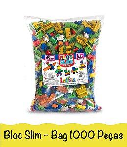 Blocos De Montar Brinquedo Infantil Encaixe Com Lego 1000 Peças