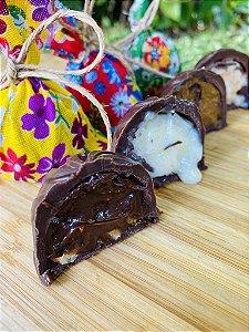Trufa de Chocolate e Amendoim
