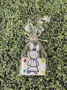 Kit com 3 Biscoitos Amanteigados com formato de Coelha para Pintar
