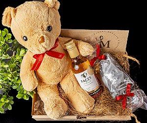 Kit Caixa Urso + Vinho