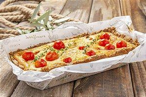 Torta de Queijos e Tomates Confitados