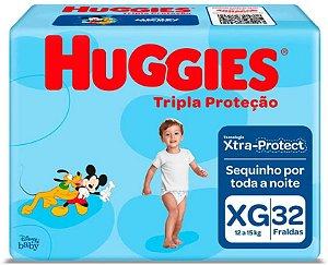 FRALDA HUGGIES TRIPLA PROTEÇÃO XG C/32 UNIDADES