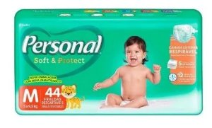 FRALDA PERSONAL BABY SOFT & PROTECT M C/44 UNIDADES