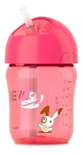 AVENT COPO C/ CANUDO 260ML - ROSA