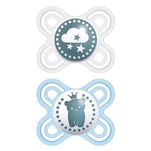 Chupeta Mam Perfect Start (0-2 Meses) - Embalagem Dupla - Azul