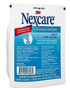 COMPRESSA GAZE ESTERIL NEXCARE C/5 UNIDADES