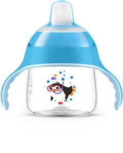 Copo Avent Pinguim 200 Ml Azul Neutro U