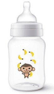 MAMADEIRA ANTI-COLIC CLÁSSICA MACACO AVENT 260ML