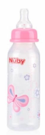 MAMADEIRA BICO NORMAL NÛBY ROSA 240ML